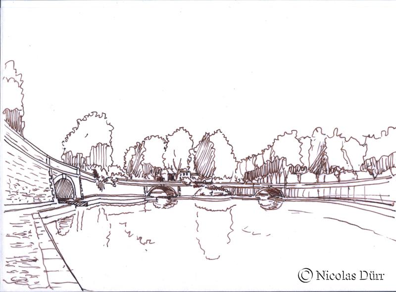 Les 3 ponts en représentation filaire