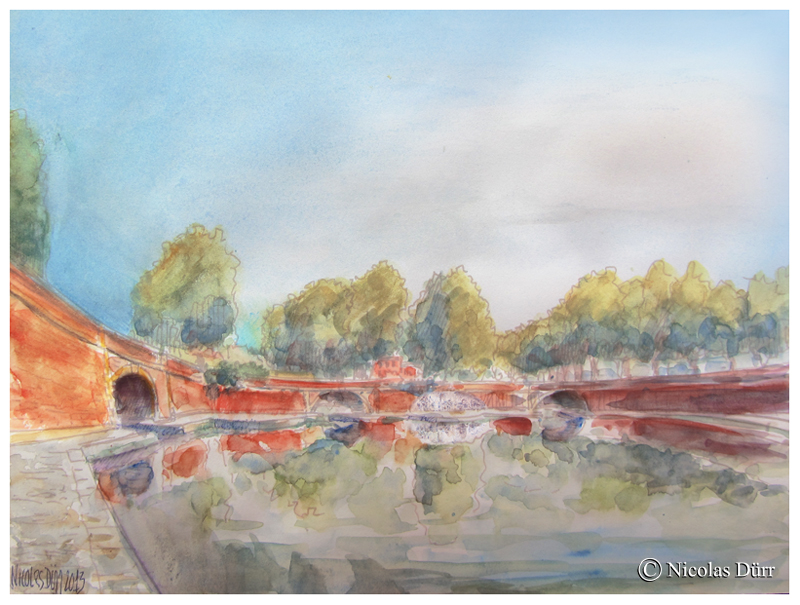 Aquarelle des 3 ponts (1)