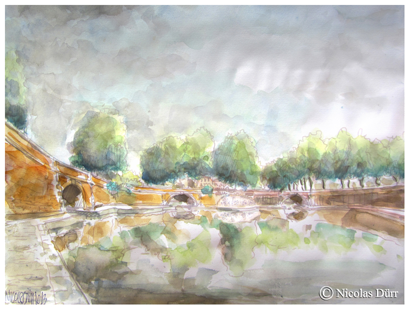 Aquarelle des 3 ponts (2)