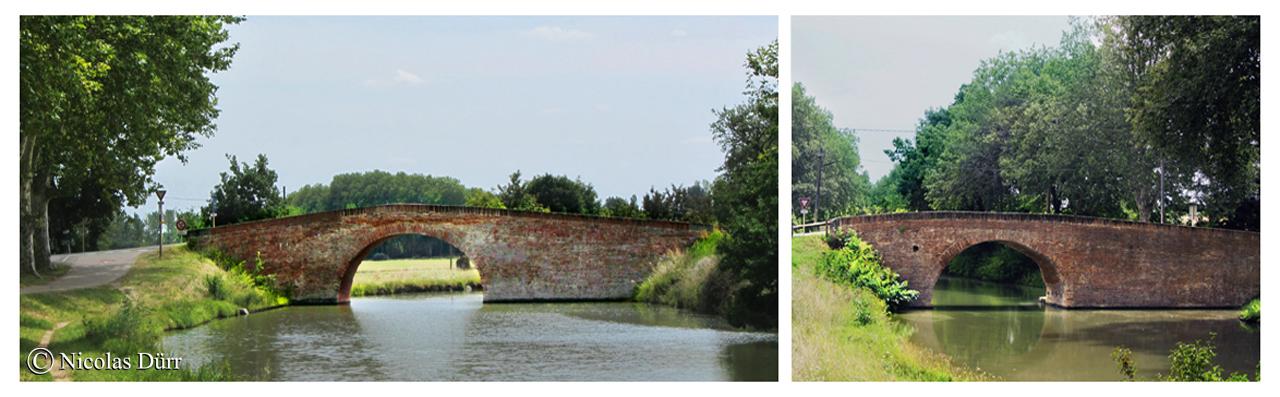 Les ponts de Deyme et de Donneville, 17ème siècle, 2 exemples d'architectures de ponts caractéristiques du Lauragais.