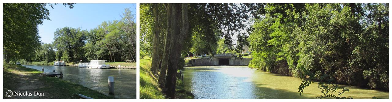Le bief de Negra : Longueur : 4 km 210 10e bief. Communes traversées par le bief : Montesquieu Lauragais et Gardouch (Lauragais, département de la Haute Garonne, Région Midi Pyrénées). Nombre de communes traversée depuis l'extrèmité occidentale du canal jusqu' à l'extrèmité du bief : 12. Nombres de communes traversées par la totalité du canal : 63. Climat : océanique (en données 2012).