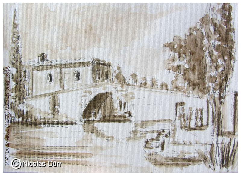 Le pont et la chapelle en amont