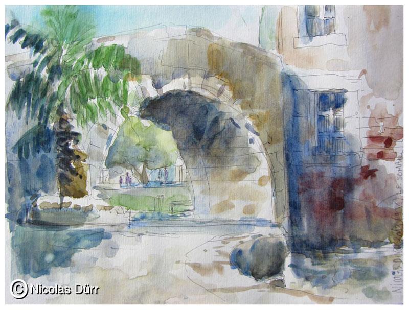 Le pont du Somail en aval