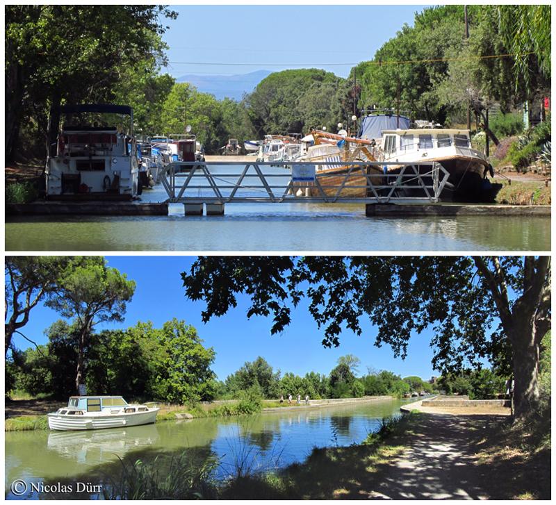 Le Port la Robine et l'aqueduc de la Cesse