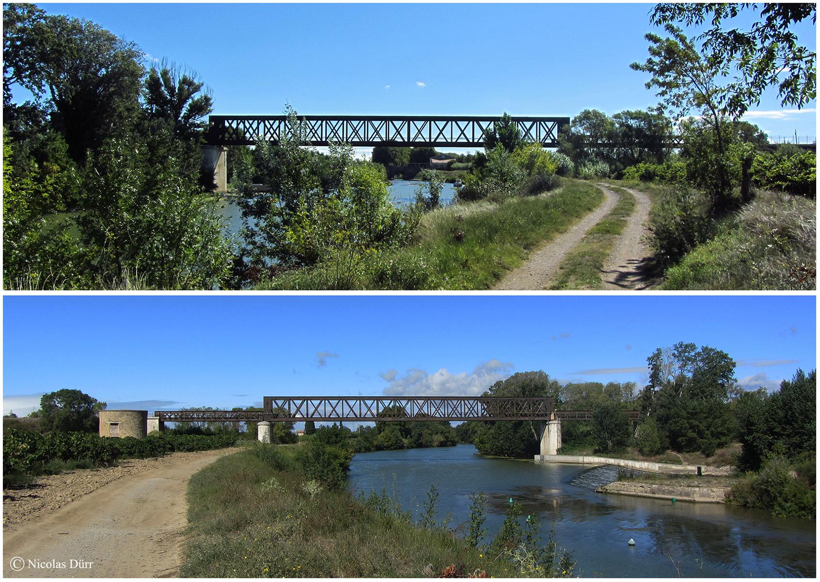 Le pont sur l'Aude du chemin de fer touristique