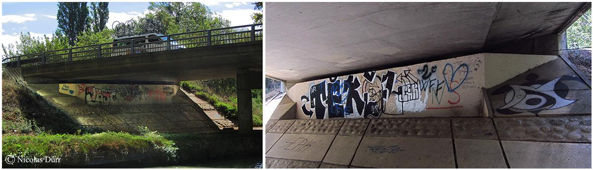 Tags sous le pont de la déviation de Narbonne