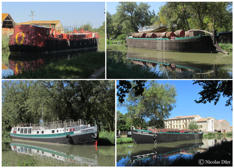 Différentes embarcations au Domaine du Grand Mandirac