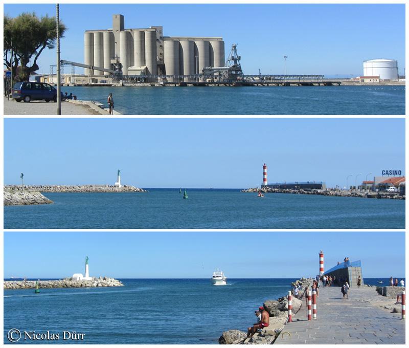 Panoramiques sur les cimenteries et le phare de Port la Nouvelle