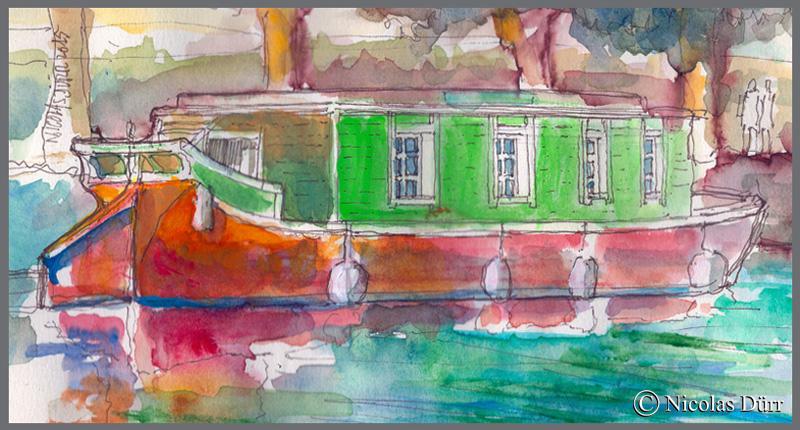 La Barque de Poste-1818-prés de Capestang, 2015