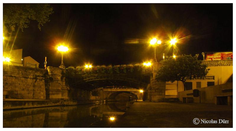 Nocturne sur les pont de la Concorde et de l'Escoute, 2015