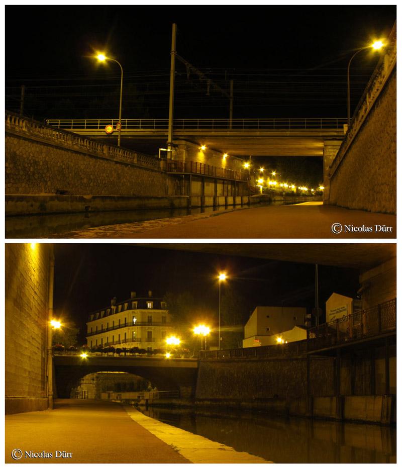 Nocturne sur les ponts ferroviaire et de l'Escoute