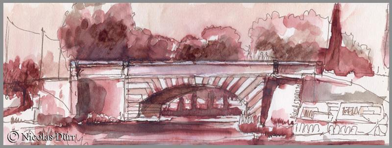 Le Pont Neuf du Somail, en version sépia