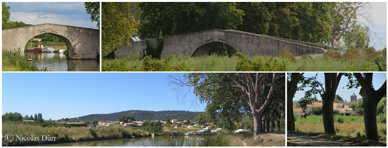 Argeliers, le pont Vieux et les deux rives, 2015