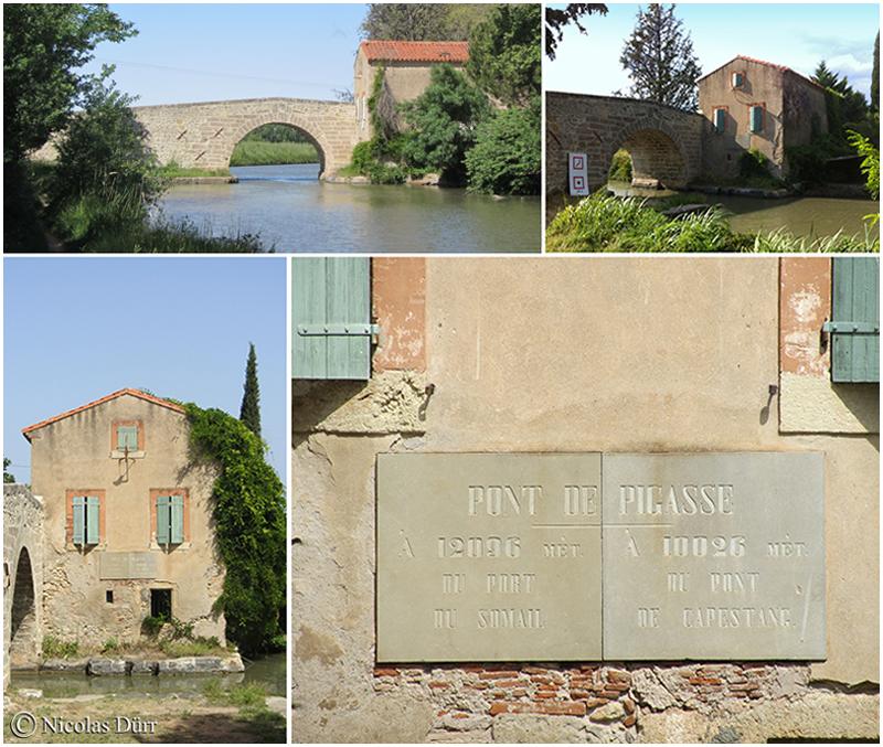 Le pont de Pigasse, sa maison et sa plaque, 2012