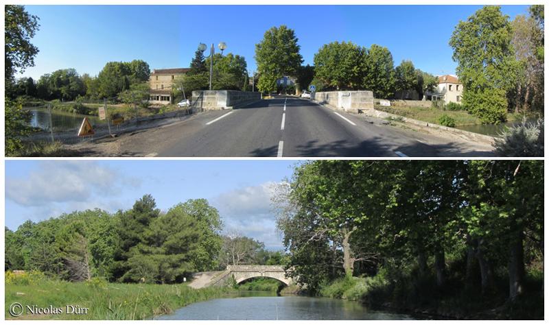 Le pont de Sériège en aval, 2012