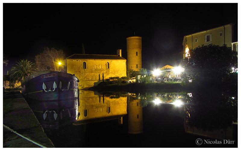 Nocturne sur la chapelle et le château d'eau, 2016