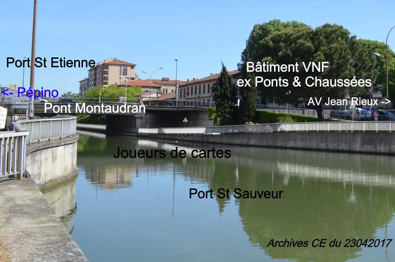 Port Saint Sauveur, Pont Montaudra, Bâtiment VNF
