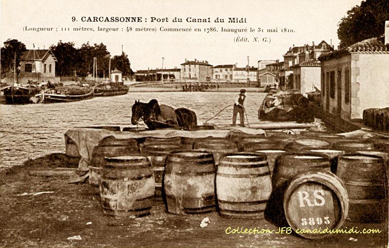 Carcassonne : Port et cheval de halage