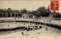 Carcassonne : La gare et le canal