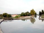 La dernière vanne de l'écluse qui conduisait vers l'Orb avant la construction de l'acqueduc