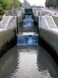L'escalier d'eau toutes vannes ouvertes