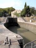 Trèbes : vue d'amont depuis l'ancienne minoterie.