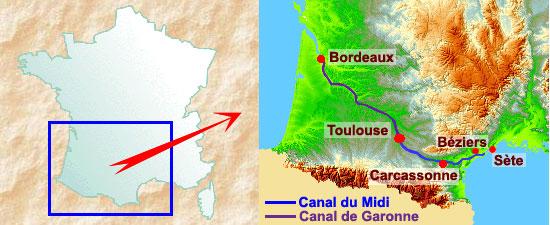 canal-du-midi-carte-de-france