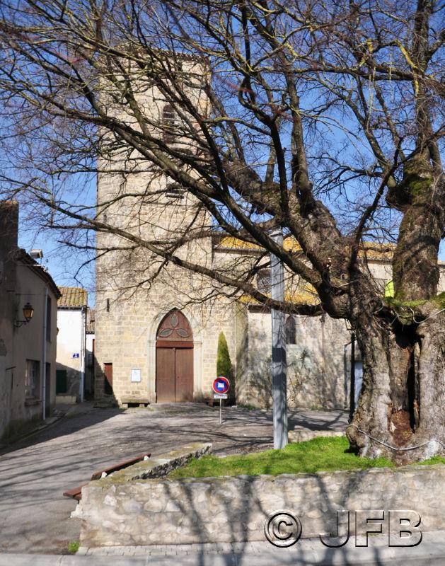L'église et l'ormeau de Villesèquelande