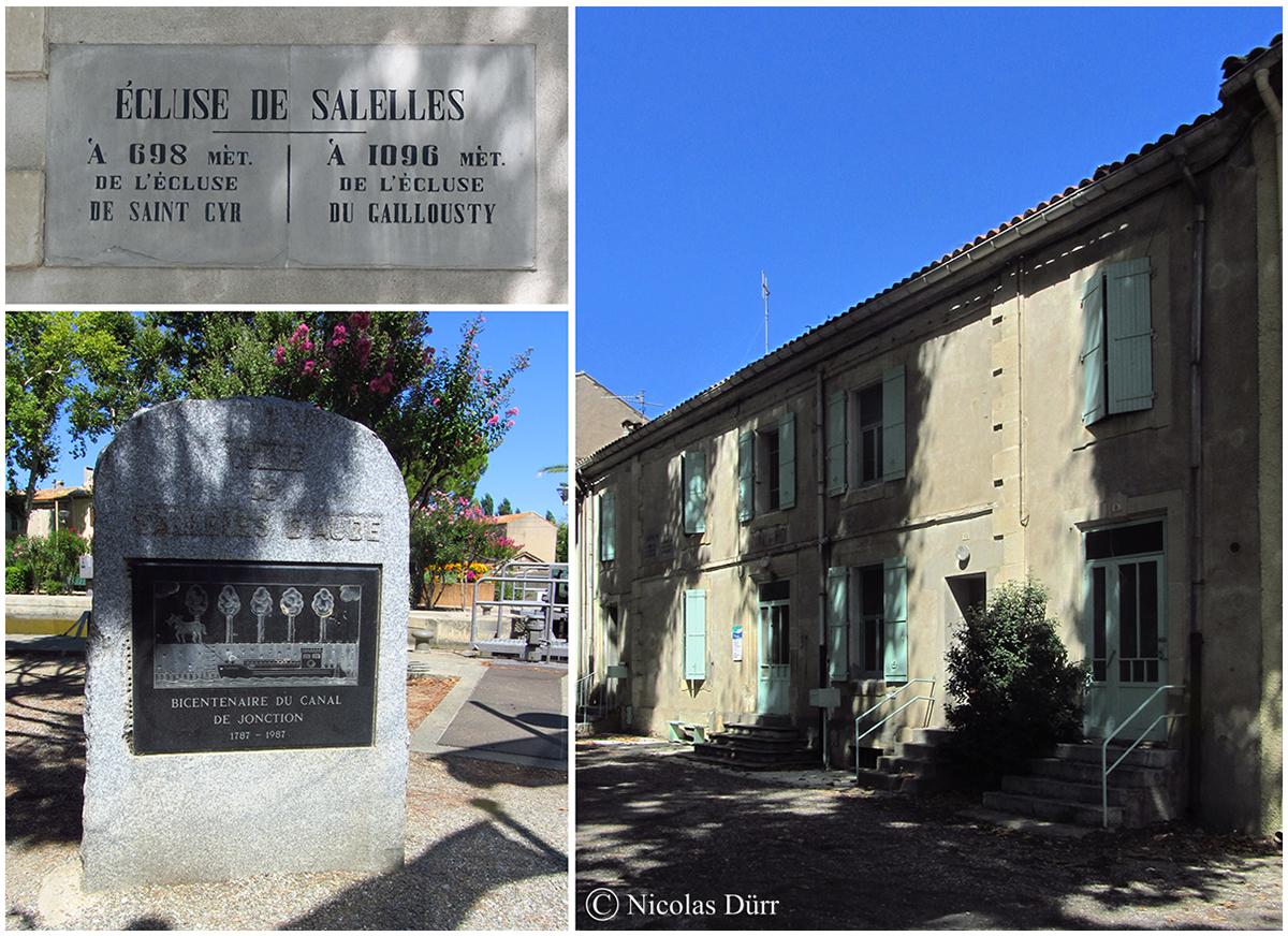 le bâtiment éclusier à Sallèles d'Aude