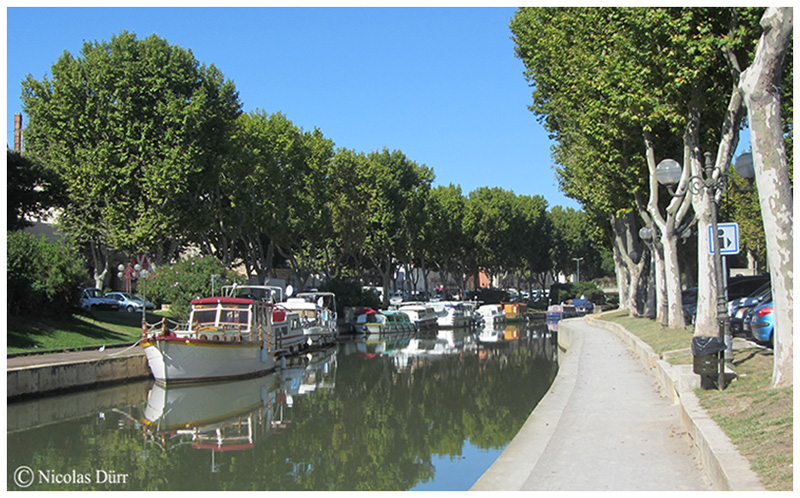 Le quai Victor Hugo en aval du canal