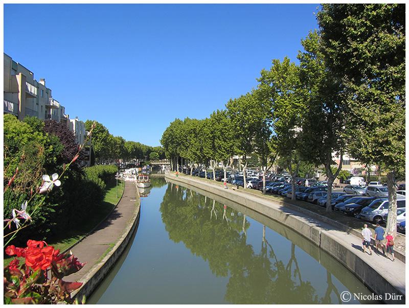 Les quais Victor Hugo et Vallière en aval du Canal