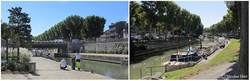 Le pont de la Liberté et le canal en aval