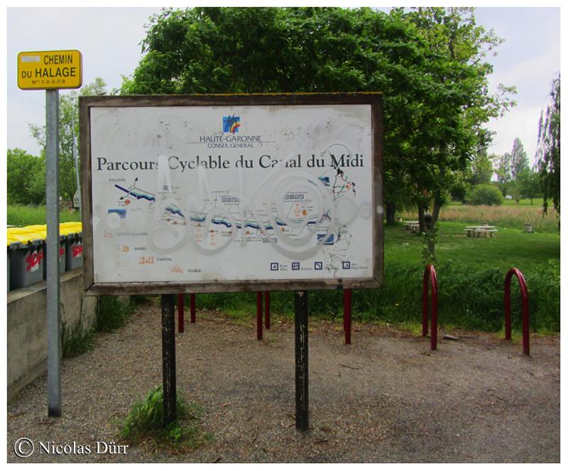 La carte du Canal du Midi au pont Mange Pommes