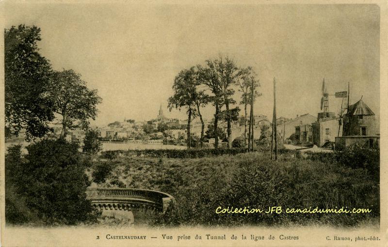 Castelnaudary : Moulins et ligne de Castres