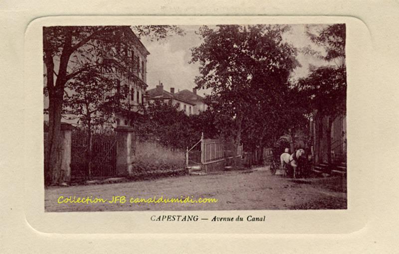 Capestang : avenue du canal