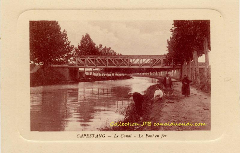 Capestang : Le pont en fer