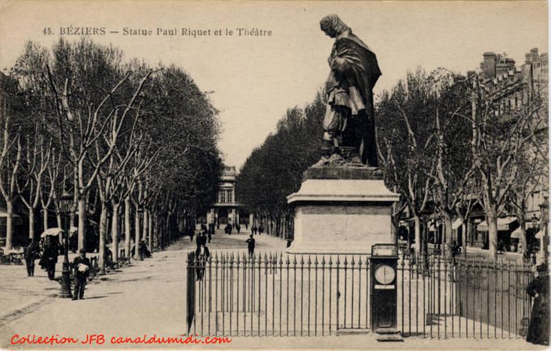 Béziers : Statue de Paul Riquet